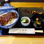 74437799 - 鰻丼(並)+肝串