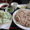 十割手打そば処 福田 - 料理写真:天ぷら付もり蕎麦1450円 並でも茹で上がり300gは大盛り級
