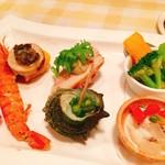 カンパネ食堂 - 料理写真:パスタコース前菜盛り合わせ