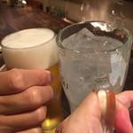 74447841 - 珍しいオジサンとの2人飲み