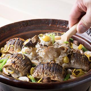 土鍋で炊く炊き込み御飯!
