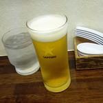 中華そば 陽気 - グラス生ビール250円