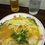 中華そば 陽気 - 中華そば+グラス生ビール