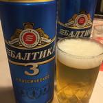 74453815 - ロシアビール《バルチカ3》600円