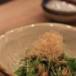 二笑庵 - 桜エビのサラダ