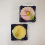 74456251 - 上生菓子                        秋の野、菊