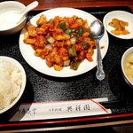 7446166 - 鶏肉とピーマンの四川風@800円です