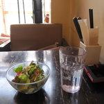 cafe croix - ランチセットのサラダ
