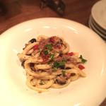 トラットリアチッチョ - 牛タン セミドライトマト オリーブのピチ トスカーナ