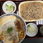 桂庵 - カツ丼セット、通常800円が日曜日価格750円(税込)