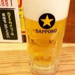 ちょい呑み まる大本舗 2nd - 生ビール:400円税別