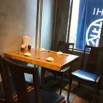 藤もと - テーブル席
