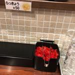 堺東カレー専門 タベルー - らっきょうは+50円