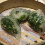 添好運 - 料理写真:野菜入り海老蒸し餃子(108元)