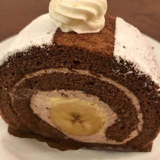 ル・ジャルダン・ブルー - 料理写真:【2017.9.28】チョコバナナのロールケーキ¥324