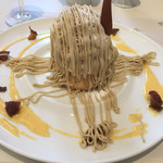 アニバーサリー テラス - 料理写真:秋のメニューは和栗のモンブラン
