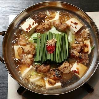 とろけるような食感の美味しいもつ鍋が食べられます