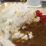 喫茶 田川 - ご飯を切り崩して食べ進める