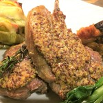 ワイン食堂 がっと - 骨付き仔羊肉のマスタード焼き