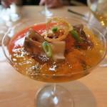 Yanakasugiura - 29年10月 バターナッツカボチャのムース、ズワイ蟹、雲丹、鳥貝
