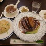 翡翠楼 新館 - 豚バラ肉の醤油煮のお得セット¥980+税