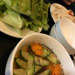 74492385 - ネムーティンのスープと野菜
