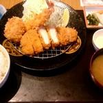 かつ久亭 - かつ久亭定食 ¥1480(税別)