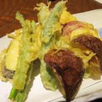 たぐせん - 野菜の天ぷら。