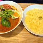カリーアンドカフェ ガネーシャ - 骨付きソーセージ&野菜(1,080円)