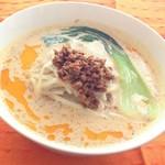 自然食カフェ すぴか - アワの豆乳担々麺