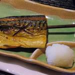 74502826 - 【北新地でランチ】 炭火焼魚と漁師汁 塩さば \800