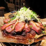 Yuruiya - 鴨の朴葉味噌焼き。