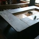 常陸屋 - 囲炉裏のテーブル