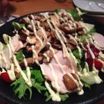 ヱビス バー - ①5種きのことスモークチキンのサラダ