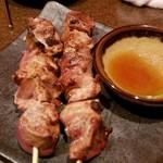 わさび居酒屋 あな蔵 - 岩手県産南部鶏 ふわふわ白レバー串