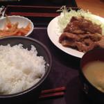やまや - 豚の生姜焼きセット