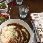 CAFE801 - ハヤシライスとセットのサラダ