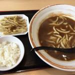 鳴門うどん - 料理写真:カレーうどん(ダブル)+ごぼう天トッピング