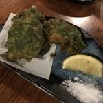 とぅばらーま - 白身魚のアーサ衣揚げ