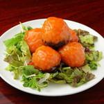 三和楼 - 奥出雲産椎茸「雲太」の海老しんじょう甘酢掛け