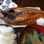 74524299 - どでかいトロ鯖!の干物の定食千円