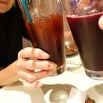 ビストロ備前 - カシスアップルとブドウでカンパ~~イ