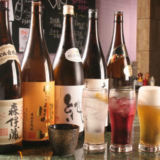 自家製サワーや、厳選した日本酒・ワインを取り揃えております