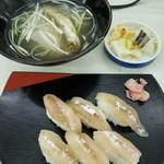 大野商店 - 料理写真:ししゃも寿司セット 1600円