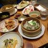 ソウソウ - 料理写真:鶏天ネギソースお豆腐と豚肉のせいろ蒸し