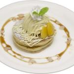 岡山珈琲館 クラブラティエ - モンブランのパンケーキ