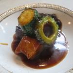 Chuugokuryourikujikuji - お昼のミニコース:主菜(三元豚のりんご黒酢酢豚)