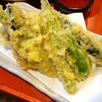 蕎麦古家 - 天ぷら