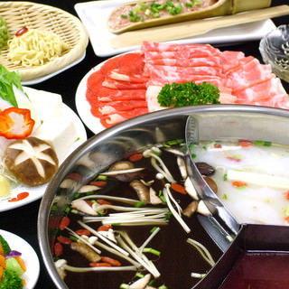 【新年会に】火鍋+薬膳スープ=美容効果抜群♪美肌&疲労回復◎