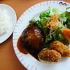 不二家 - 料理写真:ハンバーグステーキ+広島産大粒カキフライ
